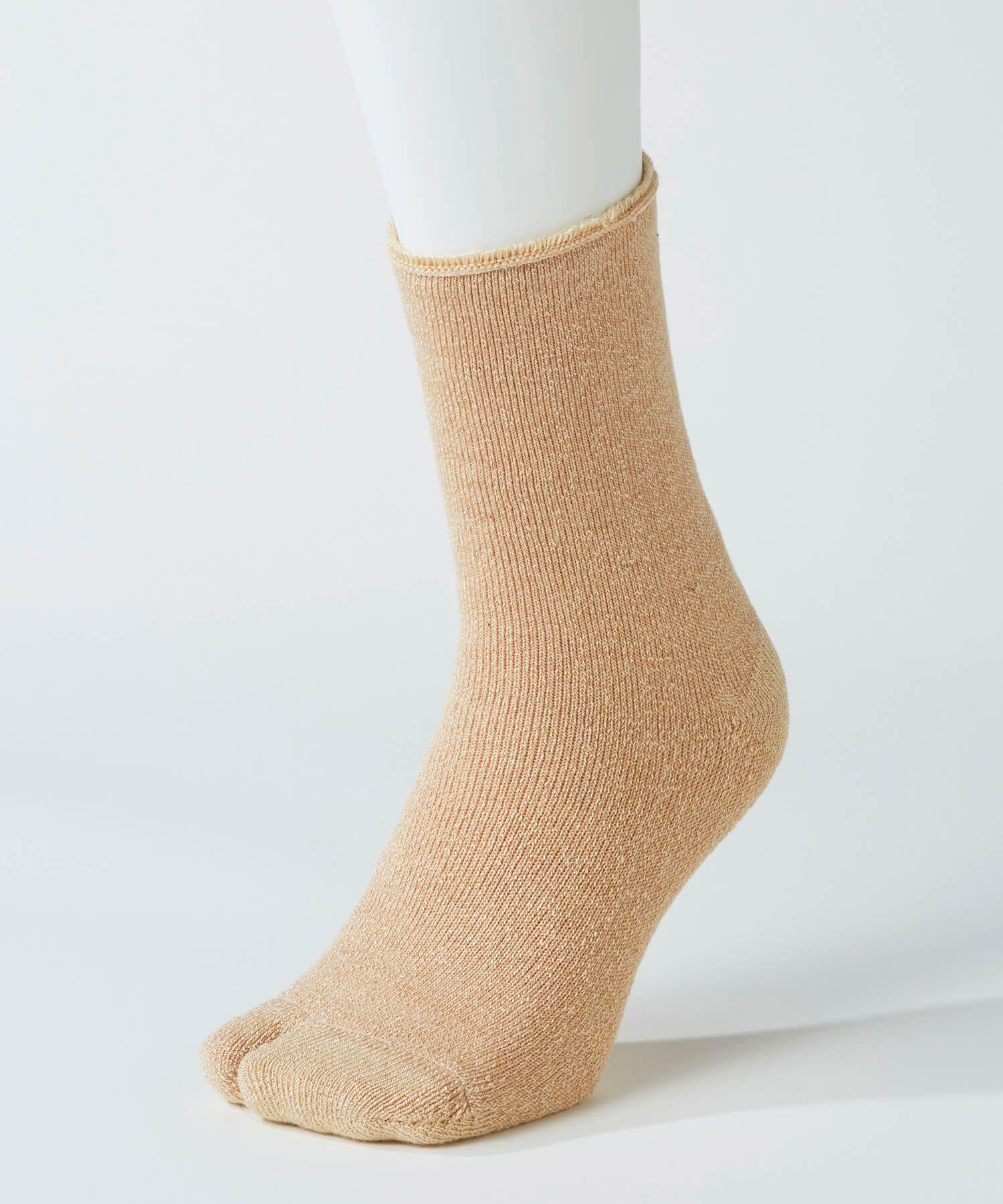 あしごろも レディース ソックス オーガニック 肌側シルクパイル足袋
